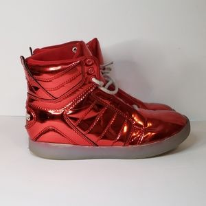 Osiris Skyrise Youth High Tops Red Sneaker 4Y
